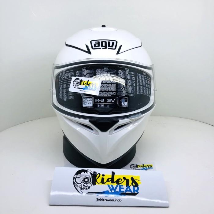 Jual Agv K3 Sv Solid White Full Face Double Visor Putih Kab Karawang Riders Wear Indo Tokopedia