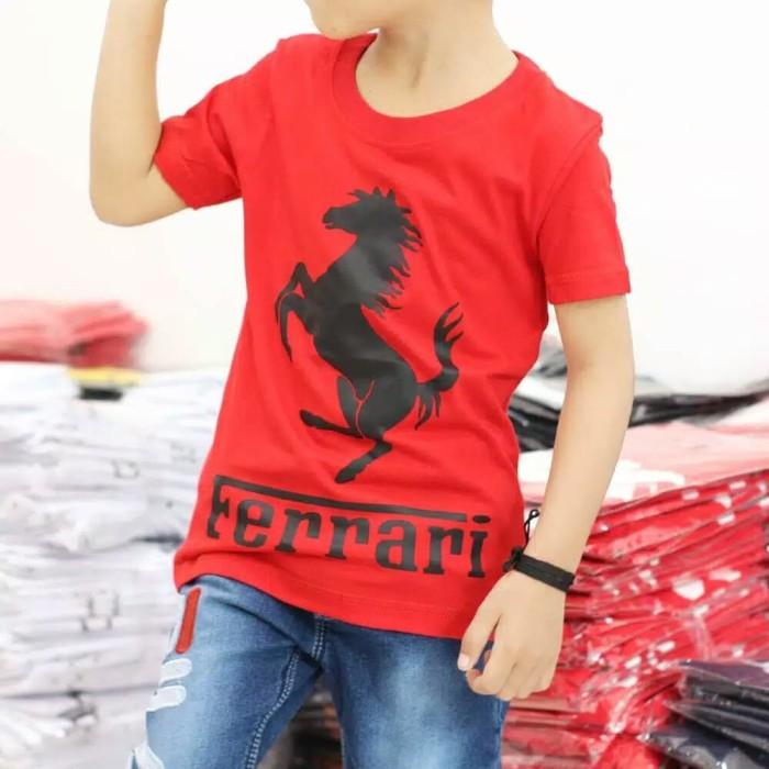Foto Produk BAJU KAOS FERRARI, BAJU ANAK TERMURAH & TERLARIS - 1-2 tahun, Merah dari NAZAH KIDS ID