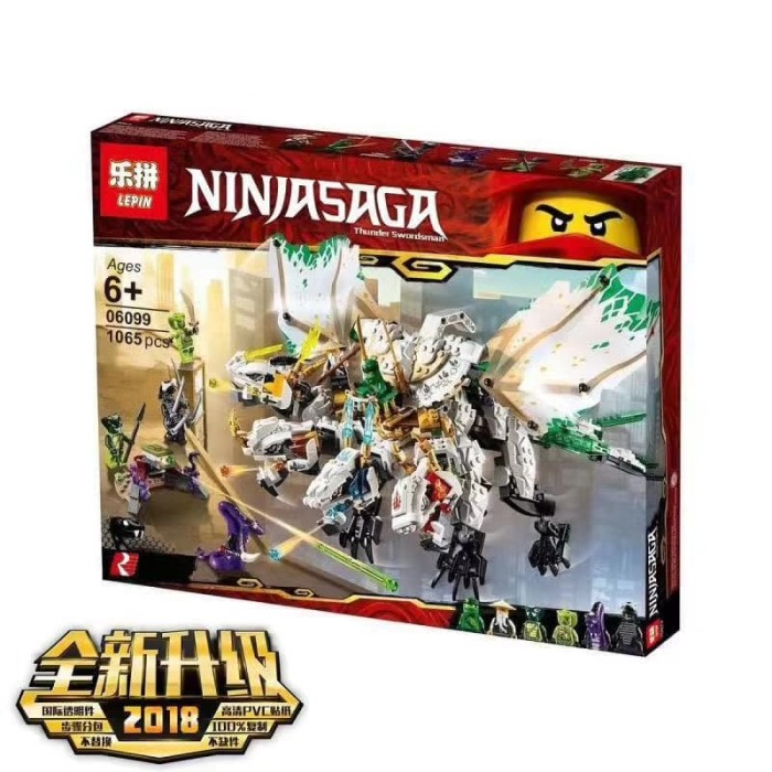 Jual Brick Lepin 06099 Ninjago The Ultra Dragon 1065pcs Lego 70679