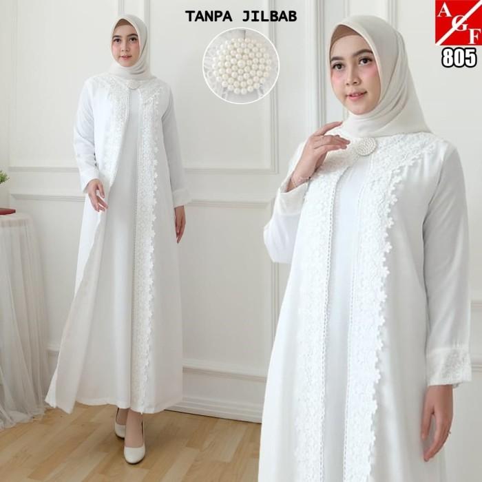 Jual Baju Gamis Wanita Putih Muslim Terbaru Gamis Muslim 805 Std Putih Xl Jakarta Utara Agnes Fashion88 Tokopedia