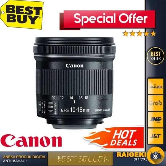 harga Canon ef-s 10-18mm f/4.5-5.6 is stm garansi resmi Tokopedia.com