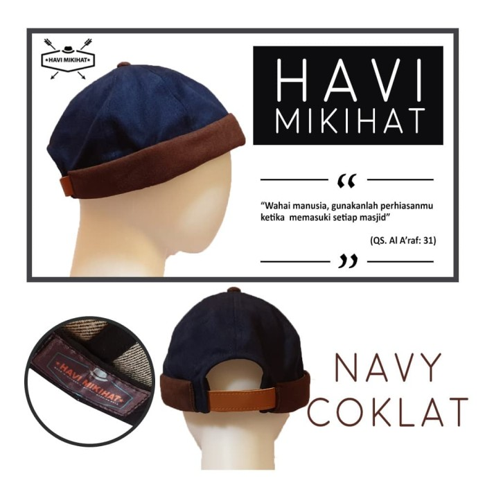 a51beaeb PECI Kopiah Gaul Sholat Shalat Miki Hat Topi Beanie Cap Hijrah - Full Maroon