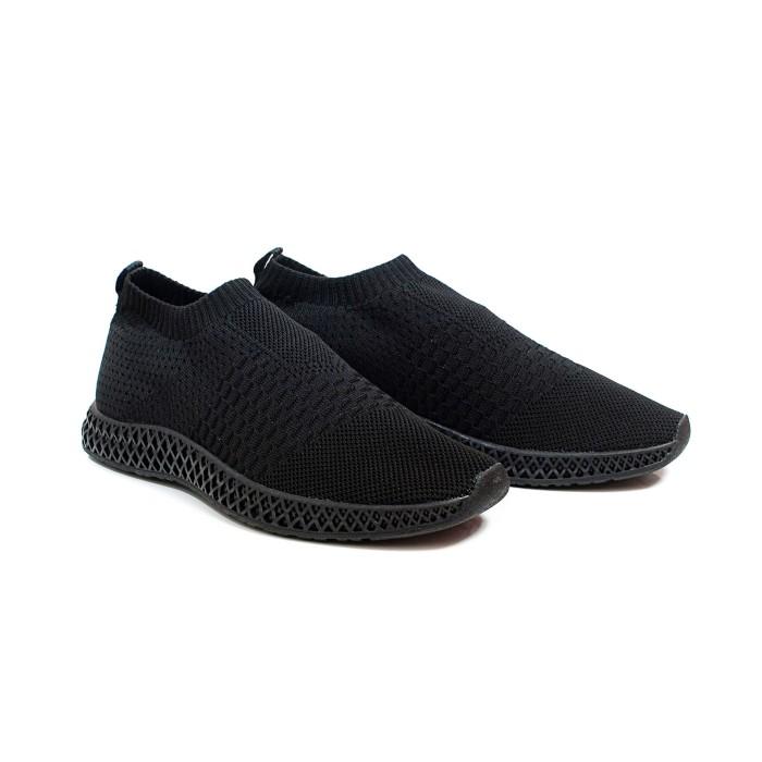 Foto Produk Volve Leander Full Black Sepatu Slip On Sneakers Knit - Hitam, 40 dari Volve Project