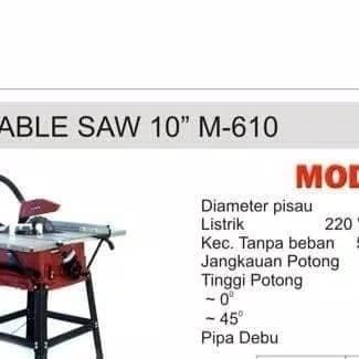 harga Modern mesin potong kayu duduk gergaji meja table saw 10  m-610 m610 Tokopedia.com
