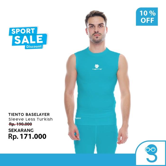 harga Tiento baselayer men lekbong singlet olahraga pria sleeve less turkis Tokopedia.com