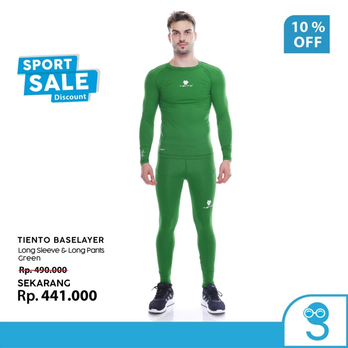 harga Tiento Baselayer Menset Olahraga Pria Celana Legging Green Men 1 Set Tokopedia.com