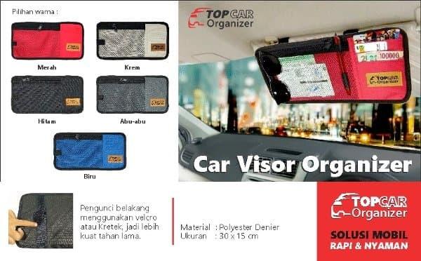 Sun Visor Panel Pass Car Visor Organizer Portable Storage Bag Pouch Mud Color