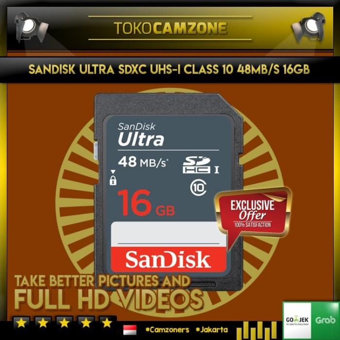 harga Sandisk ultra sdhc uhs-i 48mb/s 16gb Tokopedia.com