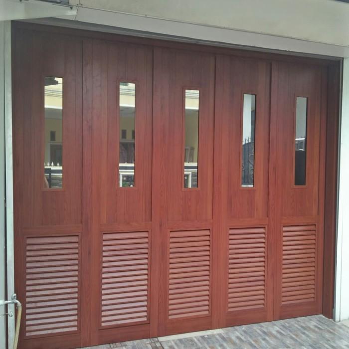 Jual pintu garasi aluminium serat kayu - Kota Depok ...