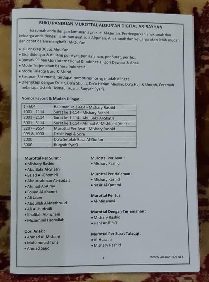 Jual Best Sale Speaker Alquran Digital Murottal Al Quran 30 Juz Susunan Kab Bekasi Andriie Shop Tokopedia