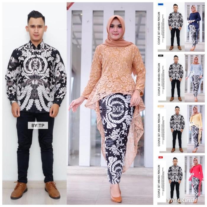 Jual Batik Couple Batik Sarimbit Kebaya Brokat Pinguin Andara Set Kota Surakarta Anitaolshop Tokopedia
