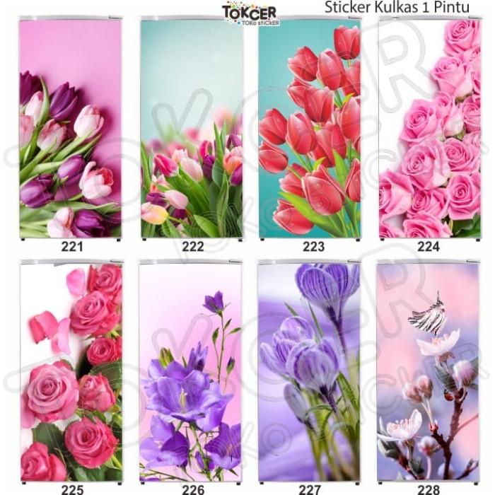 Wallpaper Kulkas 1 Pintu Bunga Tulip