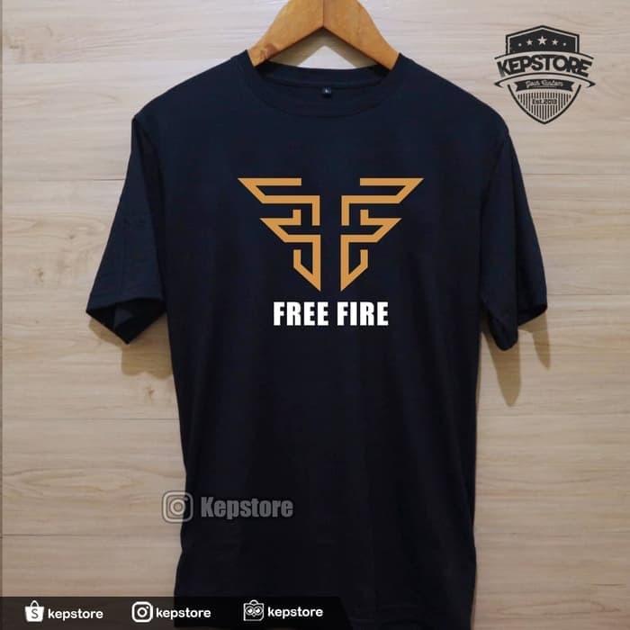 Jual Kaos Baju Obral Combed 30S Distro FF FREE FiRE LOGO 2 WARNA polos -  DKI Jakarta - Con Jersey | Tokopedia