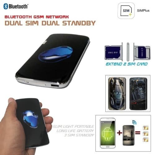 harga Bluetooth dual sim extender for iphone ipad ipod - simplus 3 sim card Tokopedia.com