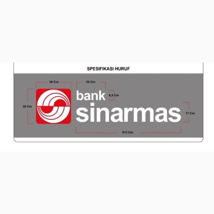 Jual Huruf Timbul Stainless Bank Sinarmas Bengkulu Jakarta