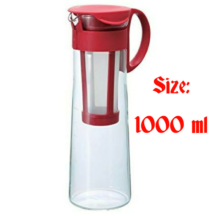 Jual Hario Mizudashi Cold Brew Coffee Pot Red MCPN-14R ...