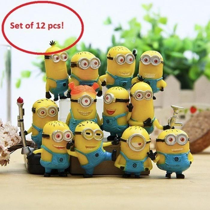 Foto Produk Set Minions Despicable Me 2 Action Figure Mainan Pajangan Hiasan Kue dari Grandia Shop