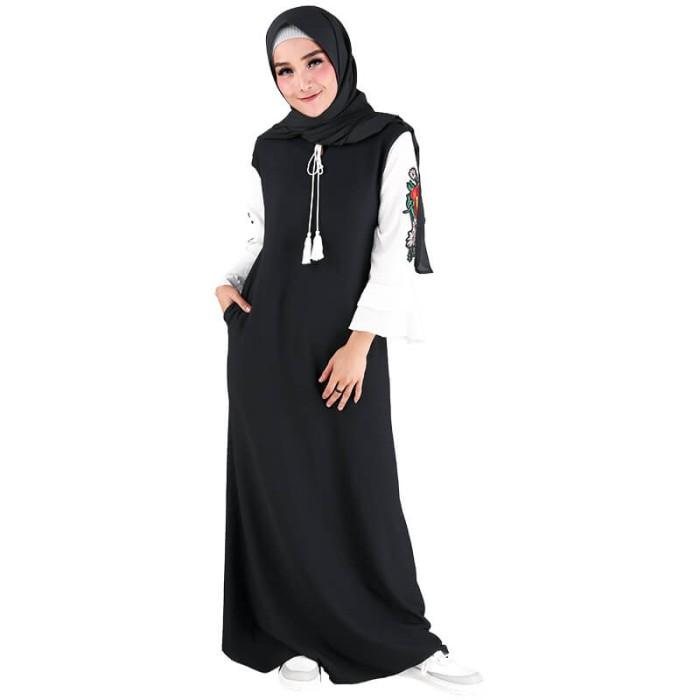 Jual Baju Gamis Busana Muslim Dress Muslimah Wanita Warna Hitam Rrz 015 Rz Kota Bandung Toko Demen Tokopedia
