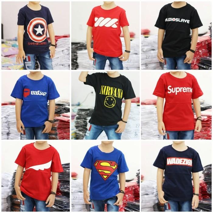 Foto Produk Grosir Baju Kaos Anak Distro Kualitas Premium Terlaris, Termurah - GROSIR 12pcsMIX dari NAZAH KIDS ID