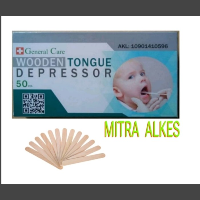 Foto Produk Wooden Tongue Depressor. Toung Spatel Kayu. Tounge Spatel Lidah dari MITRA  ALKES