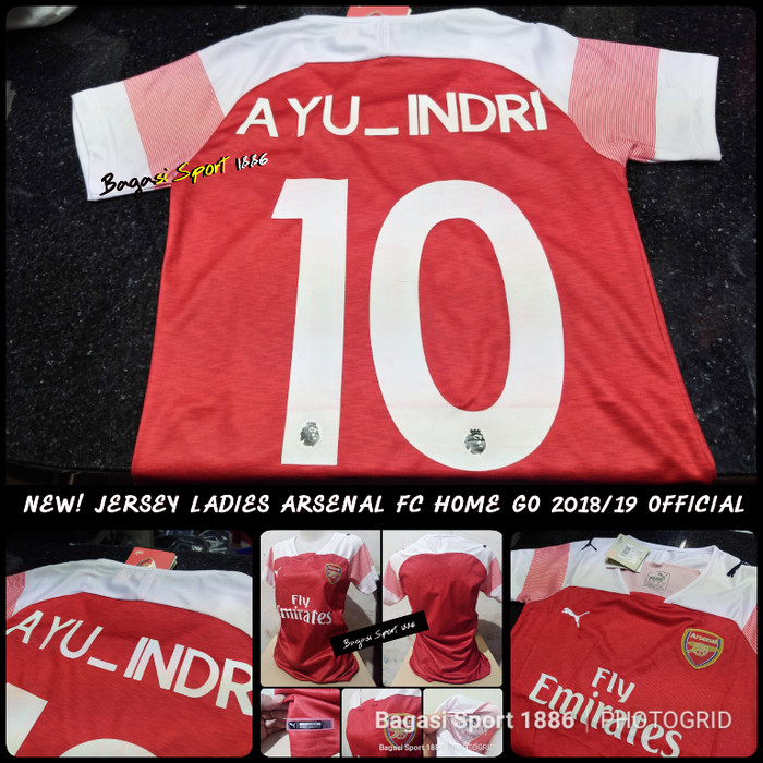 online store 838b8 a1dbc Jual Jersey Bola Arsenal Ladies cewek Home 2018 19 GO & cetak nameset nama  - DKI Jakarta - Bagasi Jersey | Tokopedia