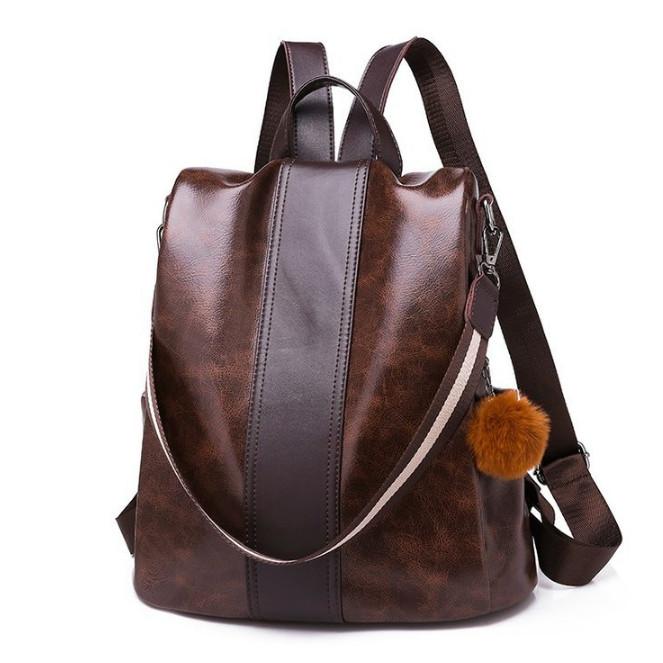 Foto Produk Tas SELEMPANG Ransel Import Backpack Wanita Punggung Sekolah 126 3IN1 - Cokelat dari Al-Fattah