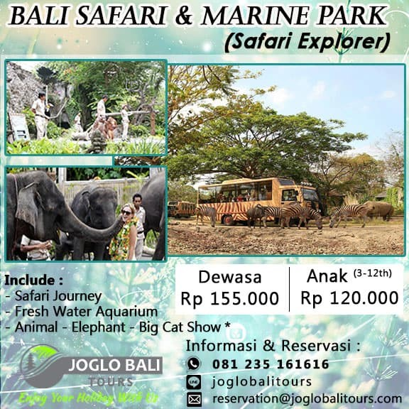 Jual Voucher Tiket Night Safari Bali Safari Marine Park Dewasa