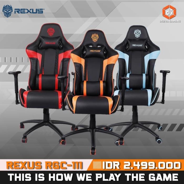 Jual Rexus Gaming Chair / Kursi Gaming RGC 111 - Merah ...