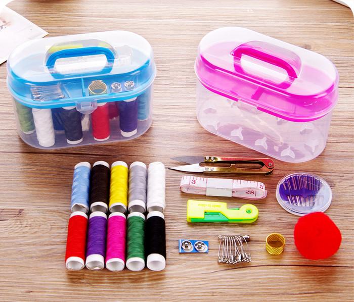 Foto Produk Alat jahit set peralatan BENANG JARUM lengkap Sewing box dari Grosirkasimura
