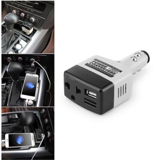 harga Charger mobil dc 12-24v ke ac 220v power inverter converter usb Tokopedia.com