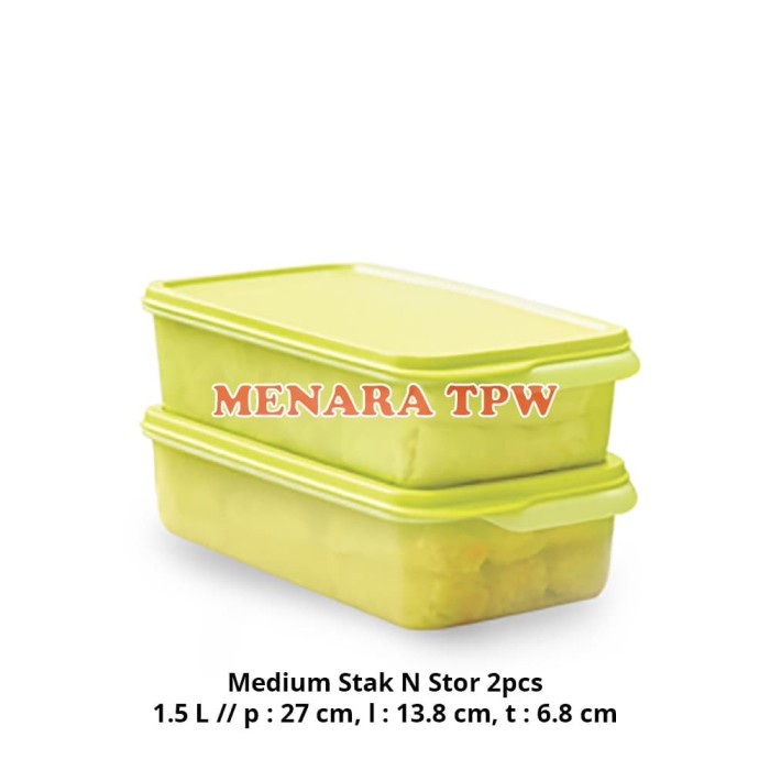 medium stak n stor lime 2pcs