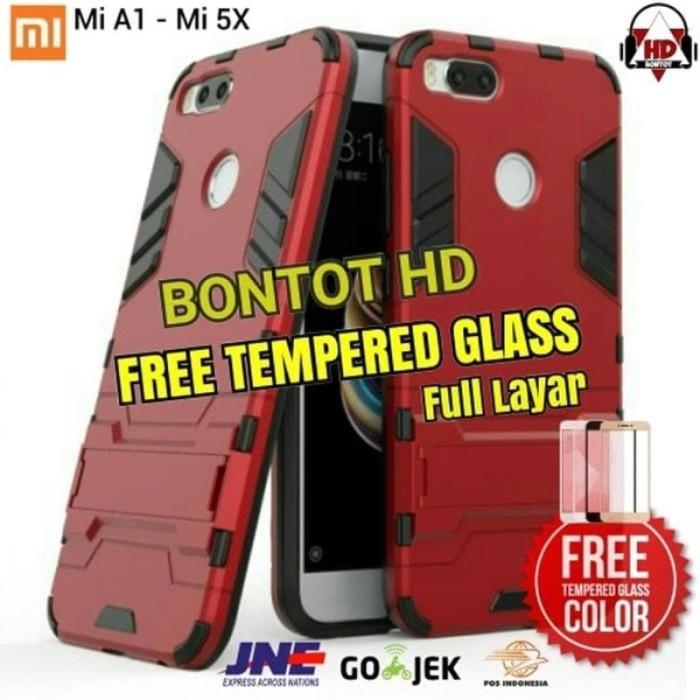 the latest 3d5c1 73011 Jual XIAOMI MI A1 5X MI5X MIA1 BACK CASE ROBOT STAND + TEMPERED GLASS COLOR  - DKI Jakarta - comosus | Tokopedia