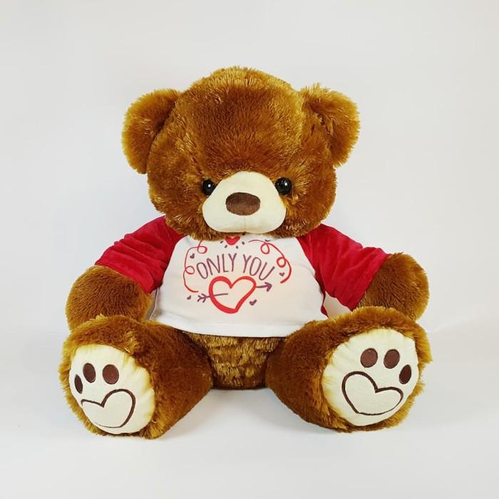 harga Boneka beruang teddy istana bear ivonne brown with kaos only you Tokopedia.com