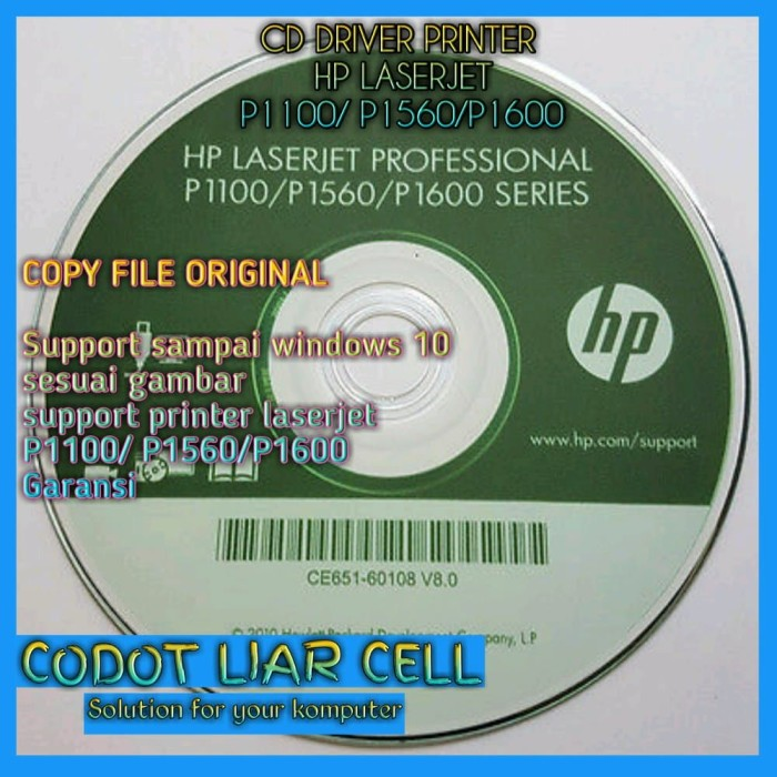 HP LASERJET P1100 P1560 P1600 PRINTER WINDOWS VISTA DRIVER DOWNLOAD