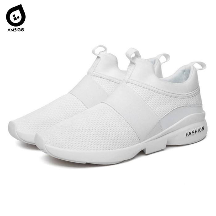 harga Ambigo upper light men n1 running shoes sepatu sneakers olahraga pria - putih 43 Tokopedia.com