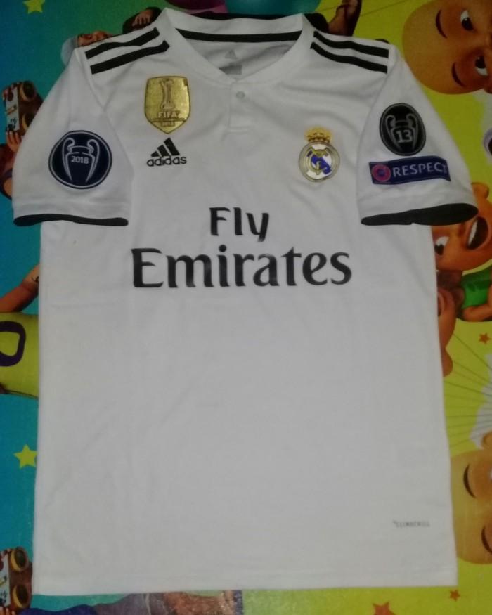 d29de6342 Jual Jersey Real Madrid home 2018 2019 Full Patch UCL - Kota ...