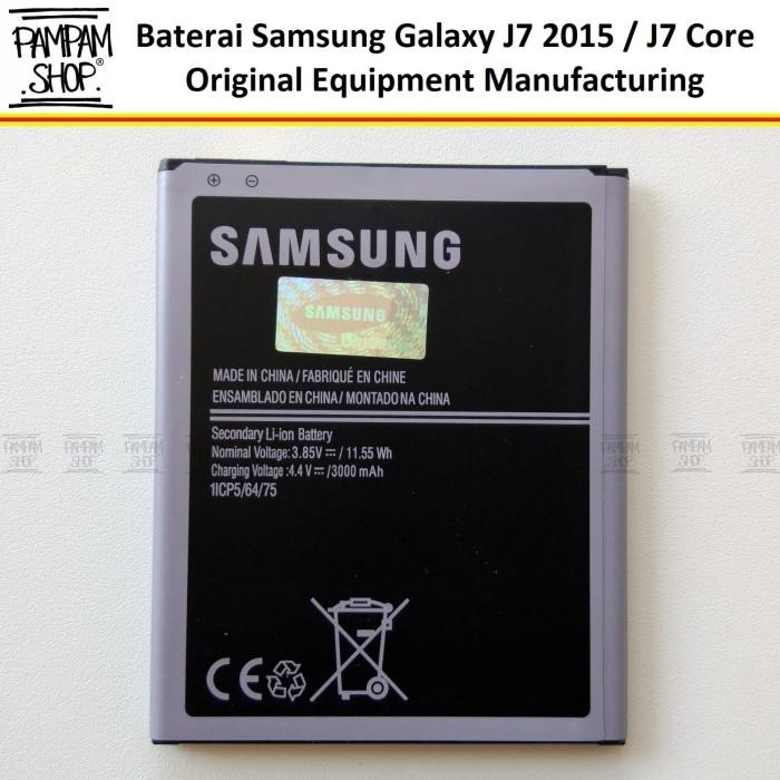 Foto Produk Baterai Samsung Galaxy J7 2015 Original OEM | Batre, Batrai J700F SEIN dari PAMPAM SHOP