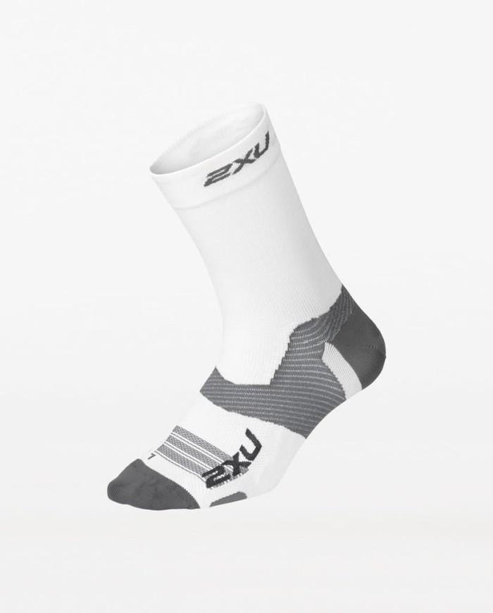 harga 2xu unisex vectr ultralight crew socks - size s [ua5051e wht/gry] Tokopedia.com
