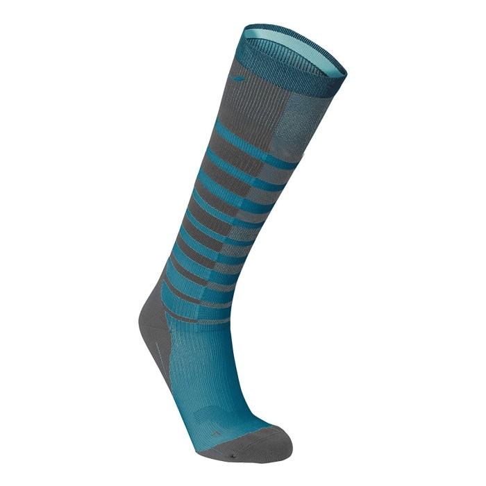 harga 2xu women's striped run compression socks - size s [wa4008e gry/cpb] Tokopedia.com
