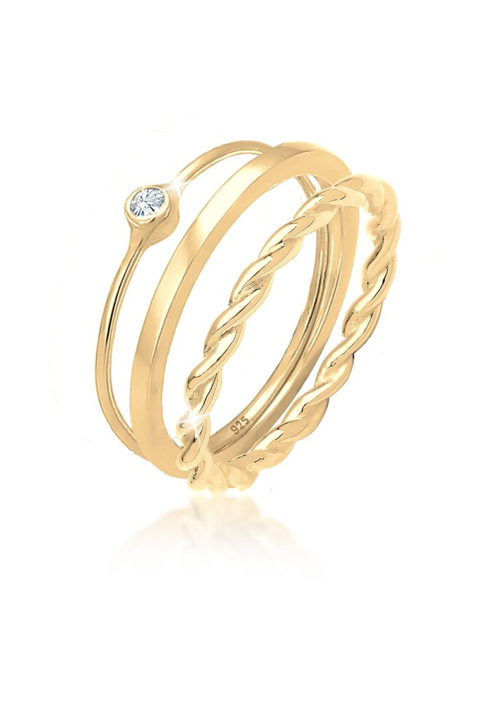 harga Elli jewelry perhiasan wanita perak asli cincin set gp -  52mm Tokopedia.com