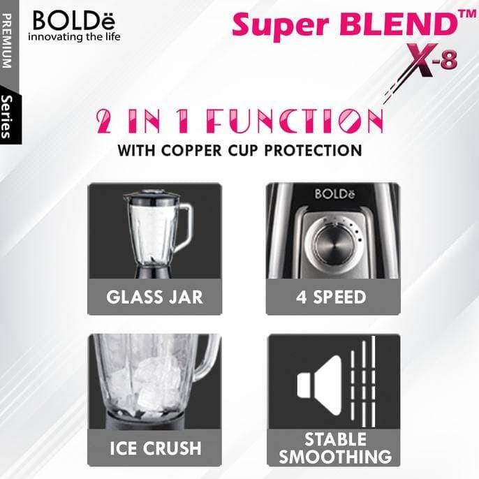 Jual New Stock Bolde Blender Kaca 1 5 Liter Super Blend X8 Jakarta Barat Cute Gaes Tokopedia