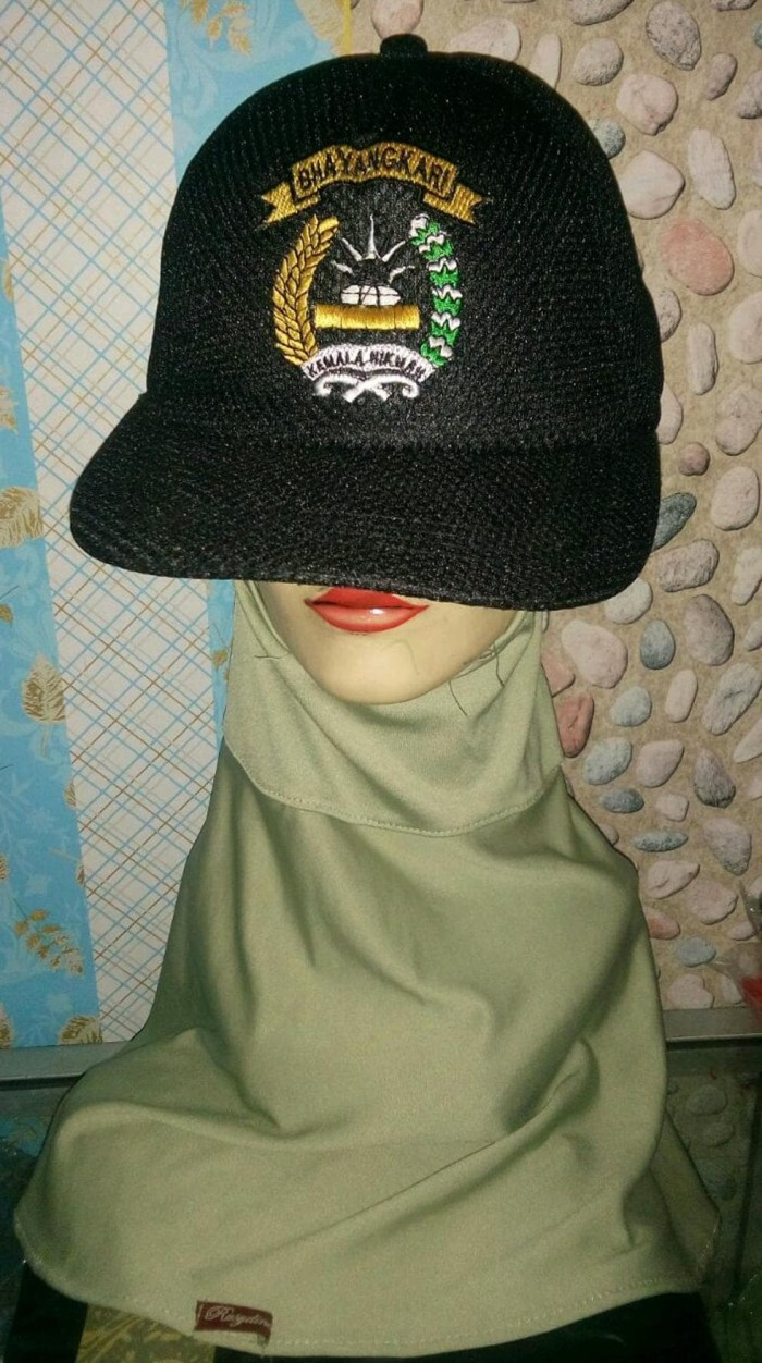 Jual Promo Topi Bhayangkari Topi Hitam Topi Keren Topi TNI Kab Kuningan SHINTA ANDIKA STORE