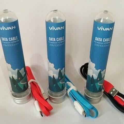 Foto Produk Vivan CTM100 1M Flat Micro USB mini Tube Kabel Android dari Lys_acc