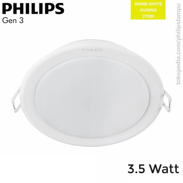 Foto Produk Lampu Downlight LED Philips 3,5W 59441 Meson Gen 3 Warm Kuning 3,5 W - Kuning dari philipslampu