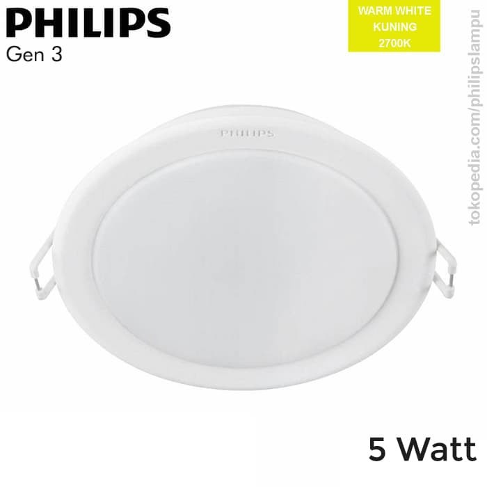 Foto Produk Lampu Downlight LED Philips 5W 59447 Meson Gen 3 WarmWhite Kuning 5 W - Kuning dari philipslampu