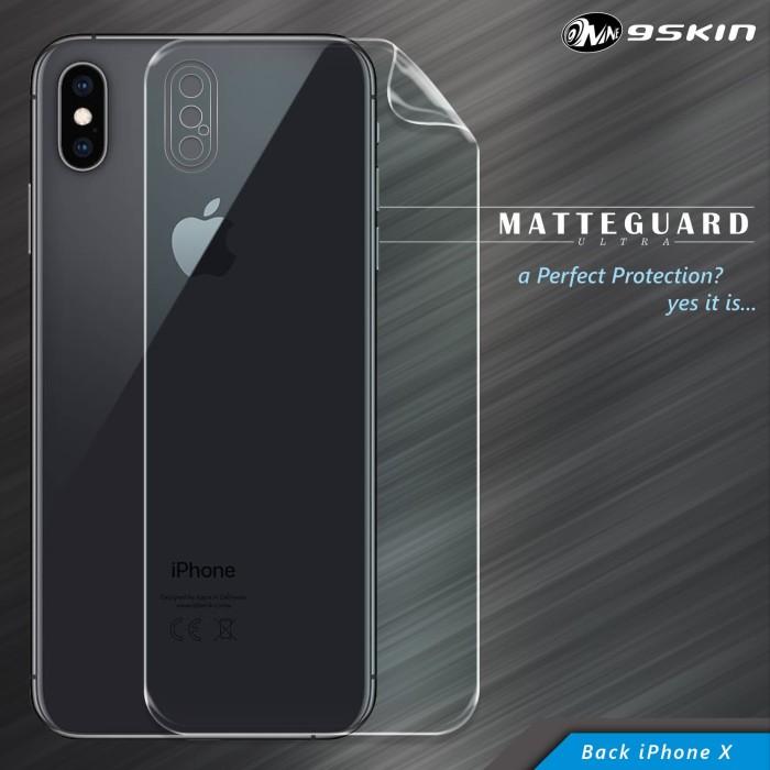 sports shoes aa7bc 71a2d Jual 9Skin Matte Guard Ultra MGU Back Cover Skin iPhone X - 1 Side - 9Skin  Premium - OS | Tokopedia
