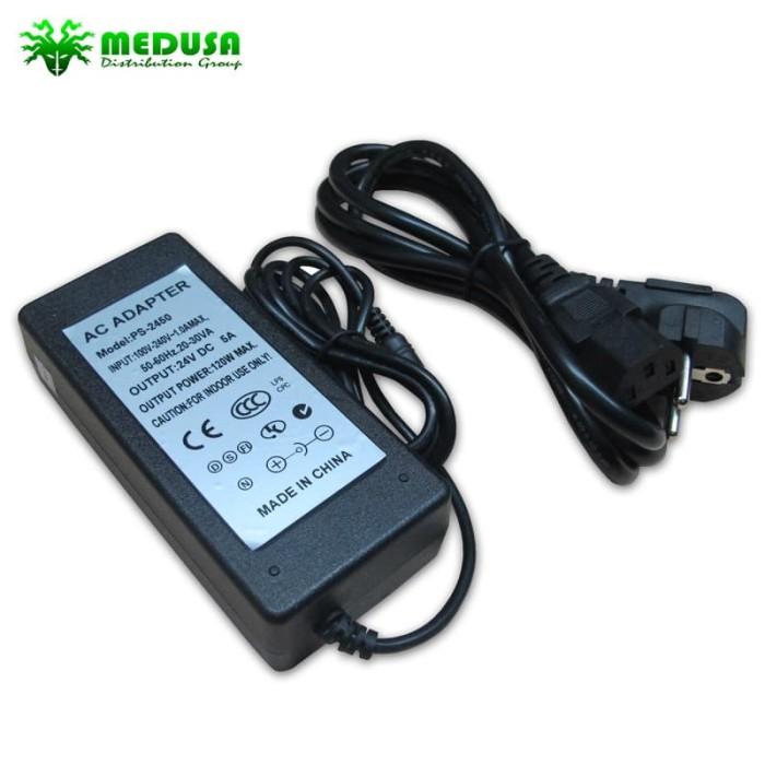 harga Adaptor 24v - 5a + cable power Tokopedia.com