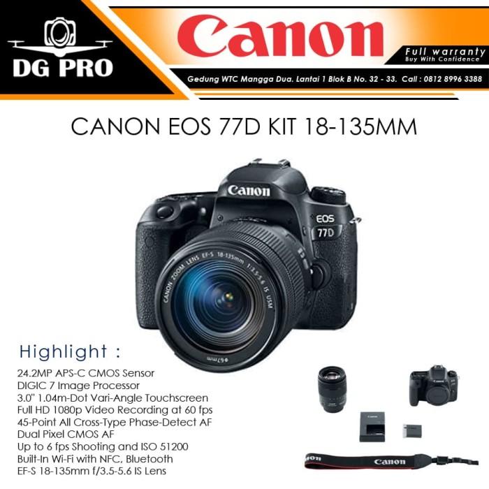 harga Canon eos 77d kit 18-135mm - kamera dslr canon Tokopedia.com
