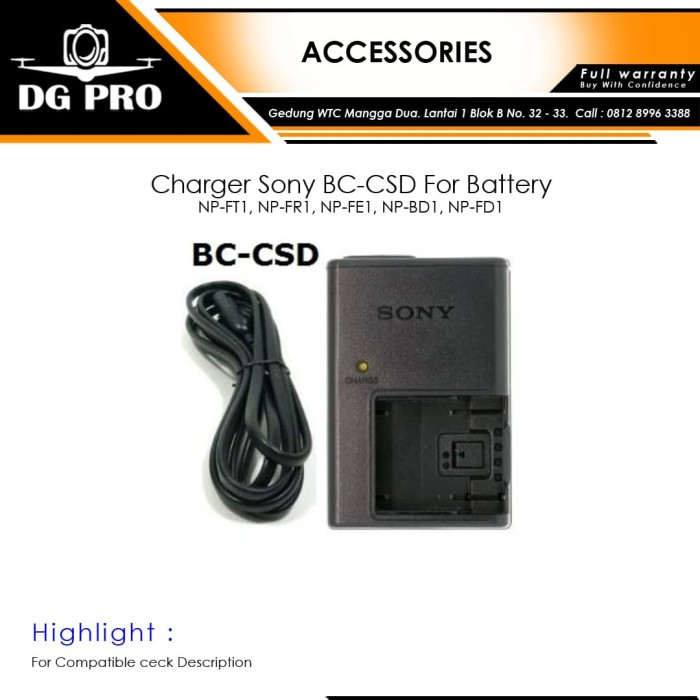 harga Charger sony bc-csd for battery np-ft1 np-fr1 np-fe1 np-bd1 np-fd1 Tokopedia.com