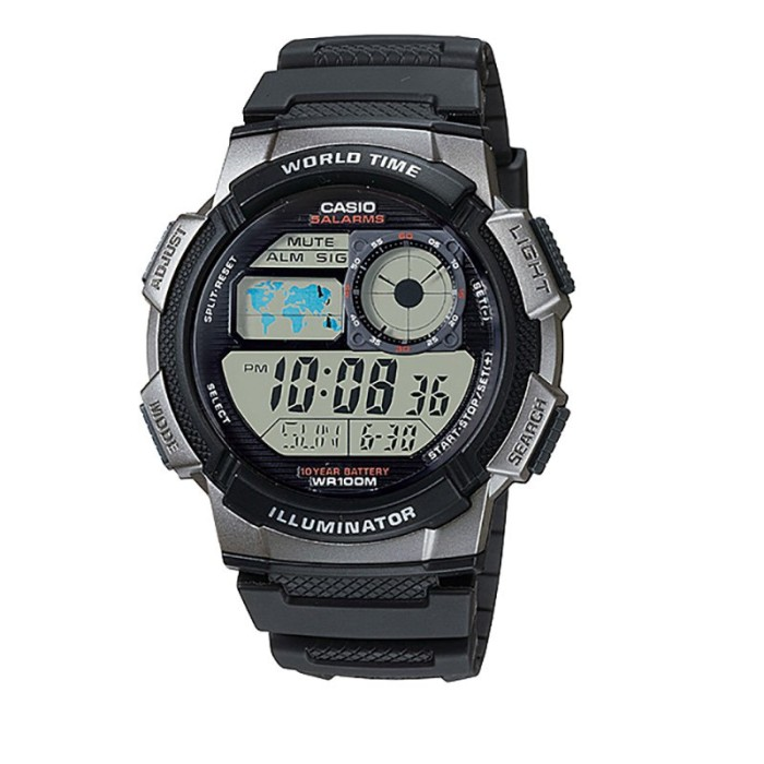 harga Casio ae-1000w-1bvdf - 10 year battery - water resistance 100m black Tokopedia.com